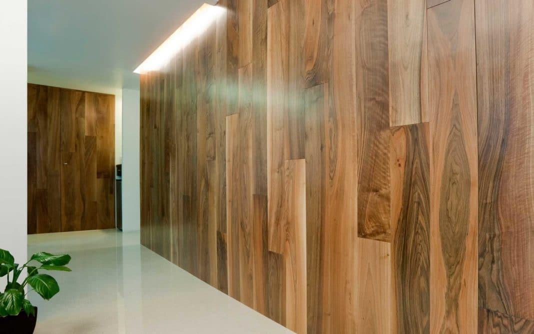 Отделать стену ламинатом дизайна