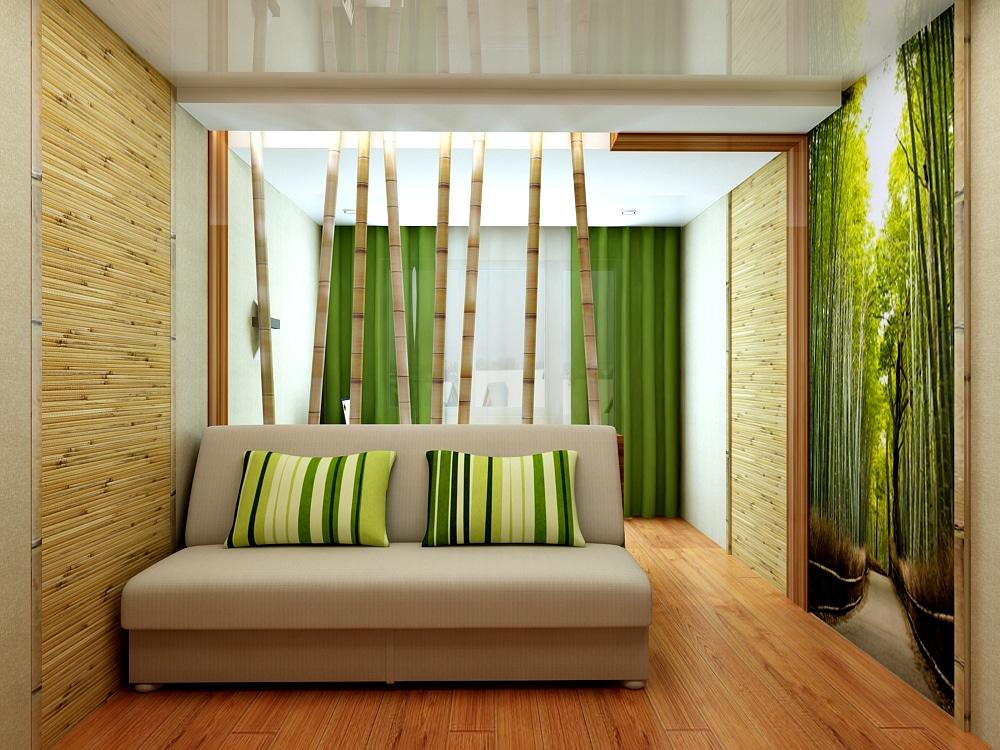 Бамбуковые обои для спальни