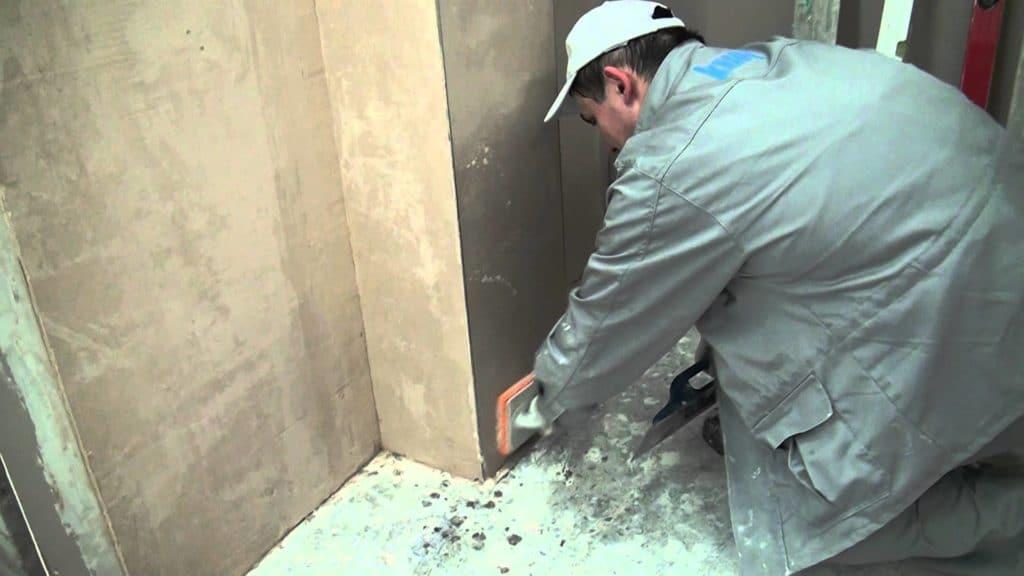подготовка бетонной стены под штукатурку