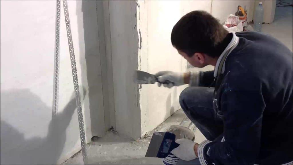 шпаклевка стен под обои