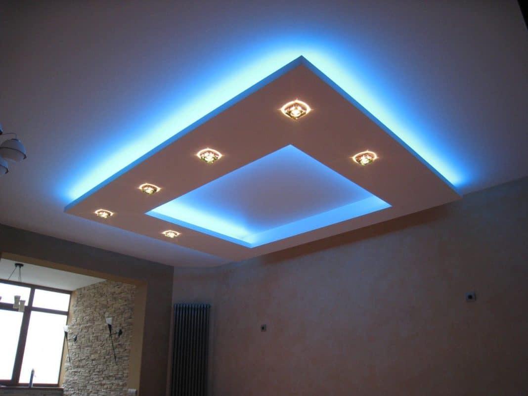 Потолок со светодиодной подсветкой фото своими руками