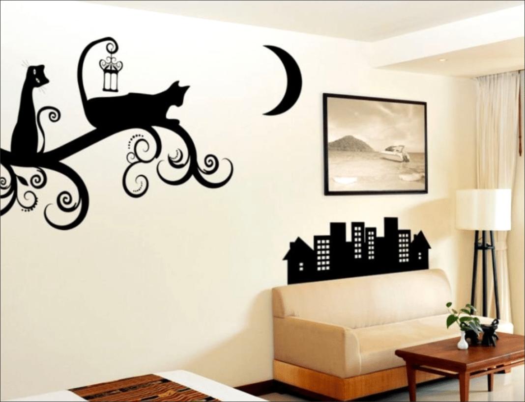 Трафареты на стенах в квартире своими руками
