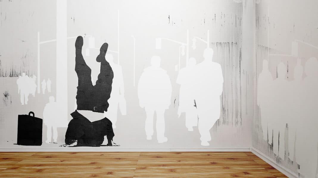 трафарет для покраски стен на скорую руку