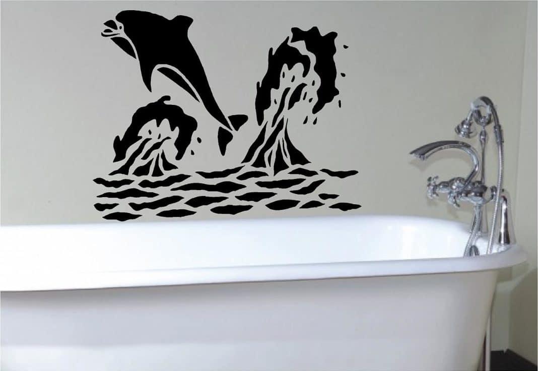 Трафареты для декора для ванной шаблоны