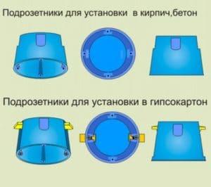 Монтаж подрозетников