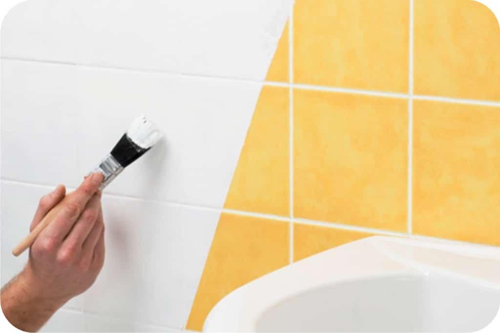 краска для кафельной плитки в ванной