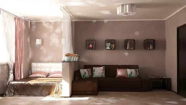 интерьер гостиной спальни 18 кв м фото