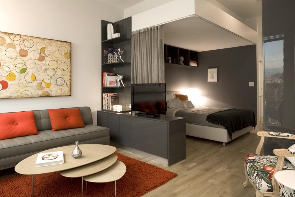 интерьер спальни гостиной 18 кв м