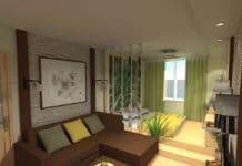 дизайн комнаты 18 кв м спальни гостиной