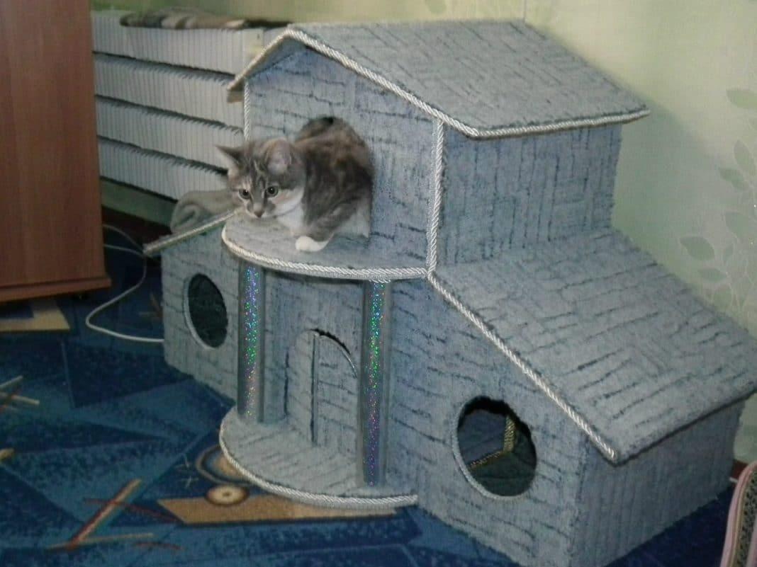 Самодельный дом для кота