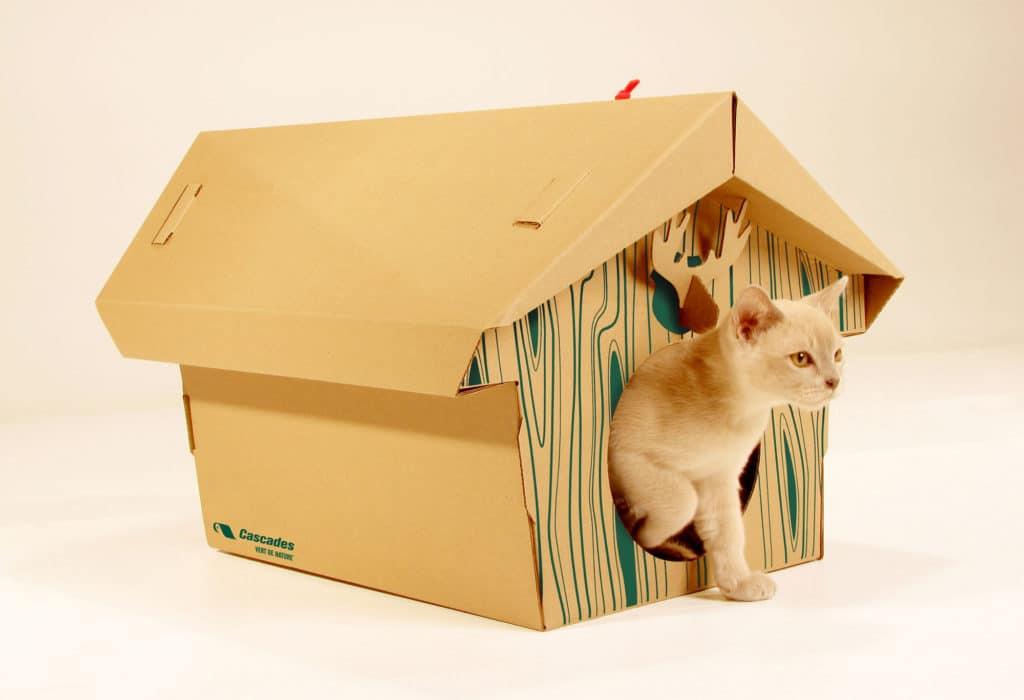 Как сделать домик из коробки для кроликов своими руками 13
