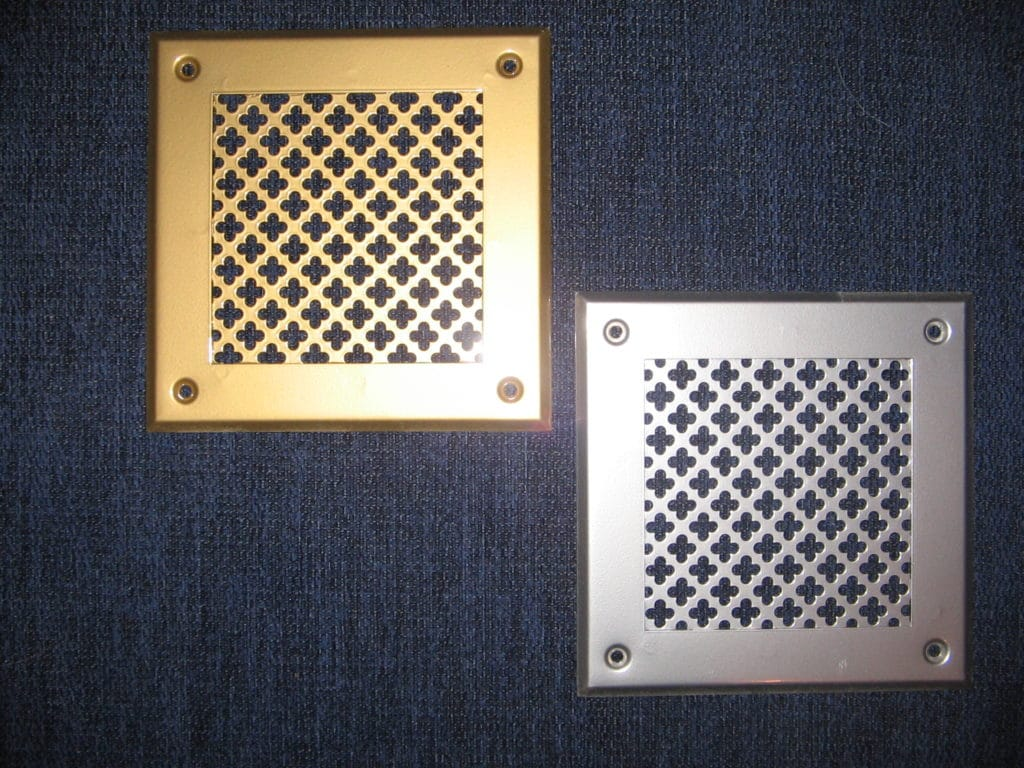 Металлические вентиляционные решётки
