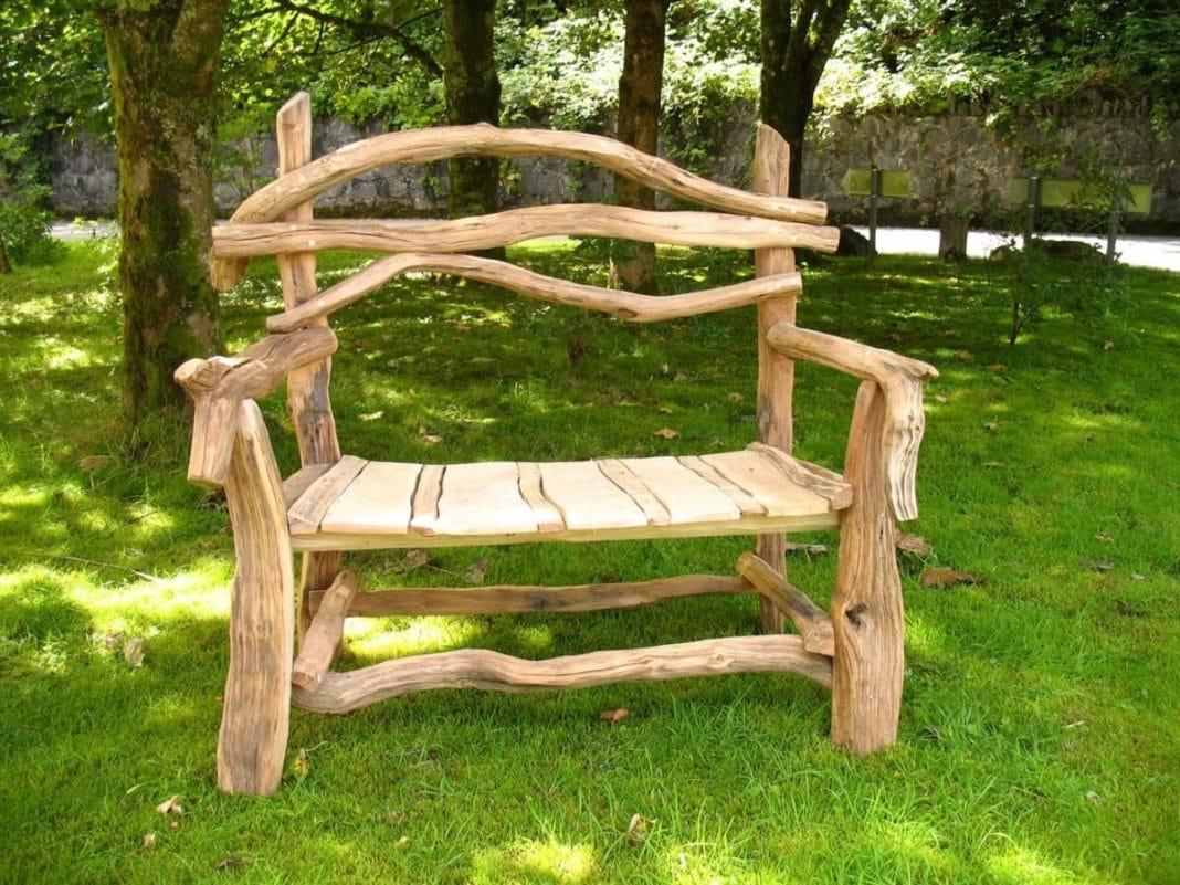 Скамейки и лавочки из дерева