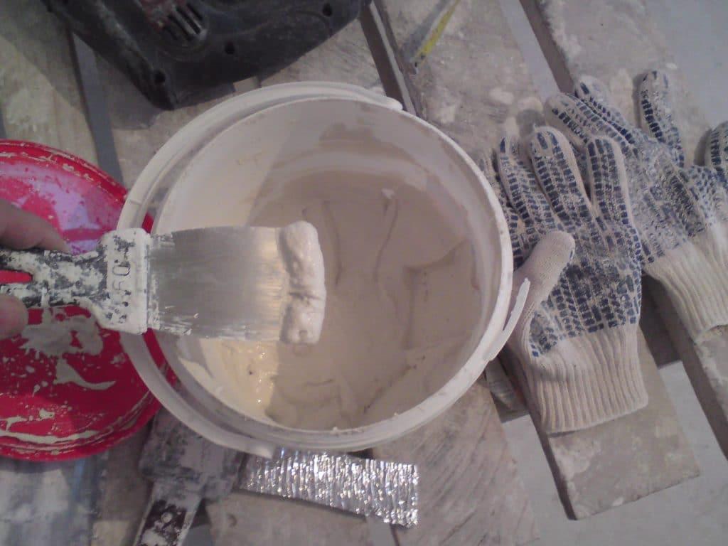 Приготовление шпаклёвки без миксера