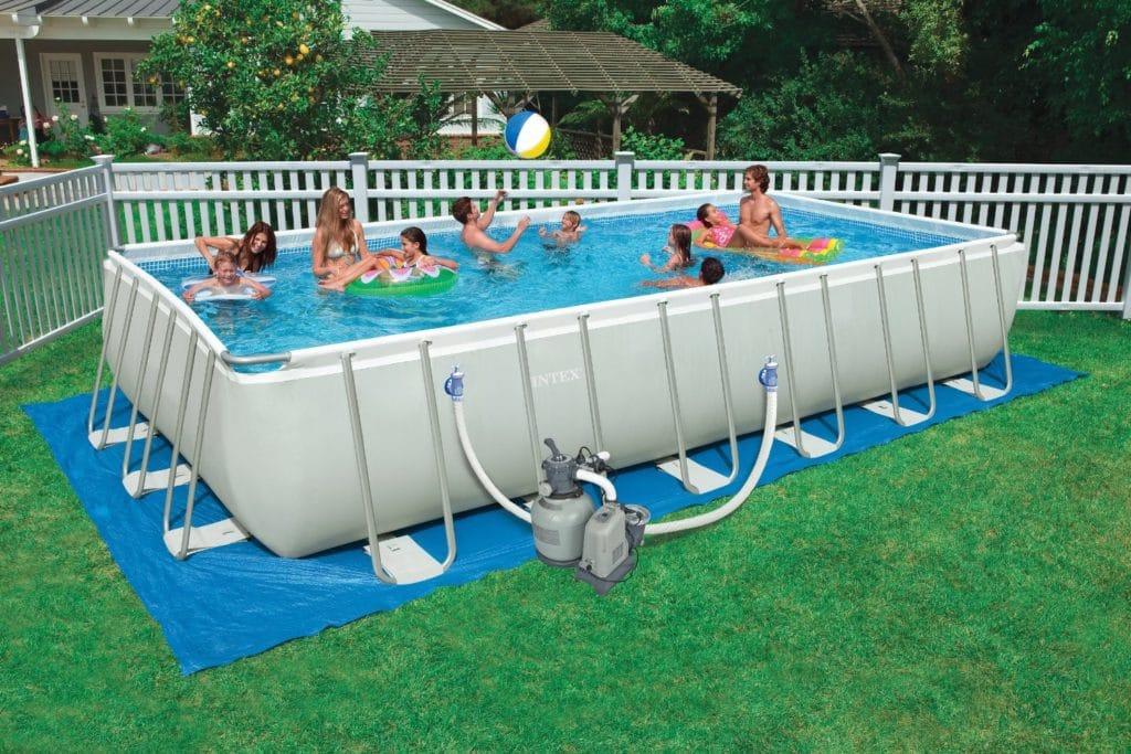 Прямоугольный каркасный бассейн