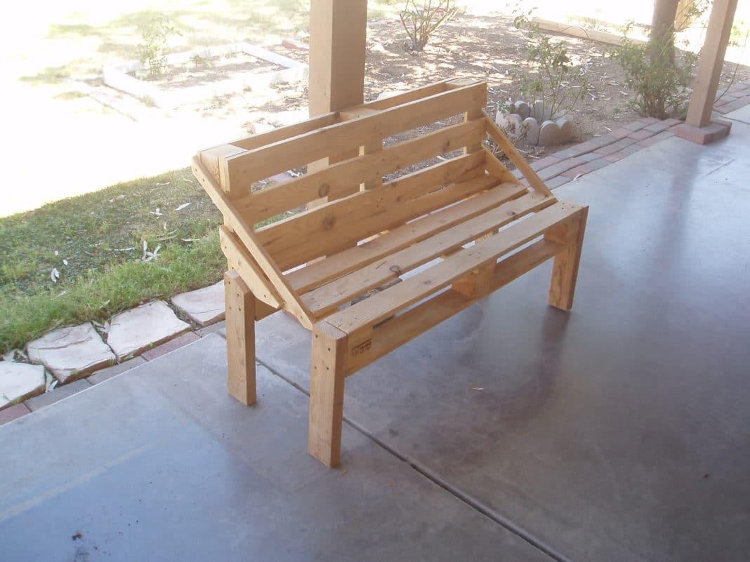 Садовые скамейки своими руками из поддонов