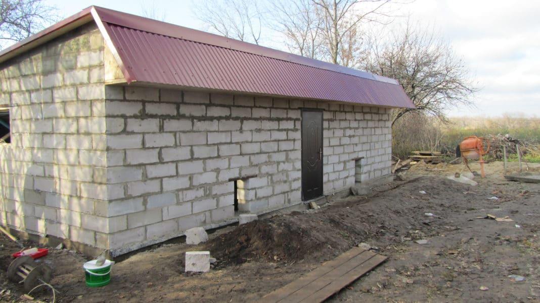 Односкатная крыша для гаража своими руками пошагово фото