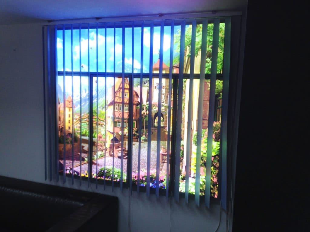 Фальш-окно с подсветкой