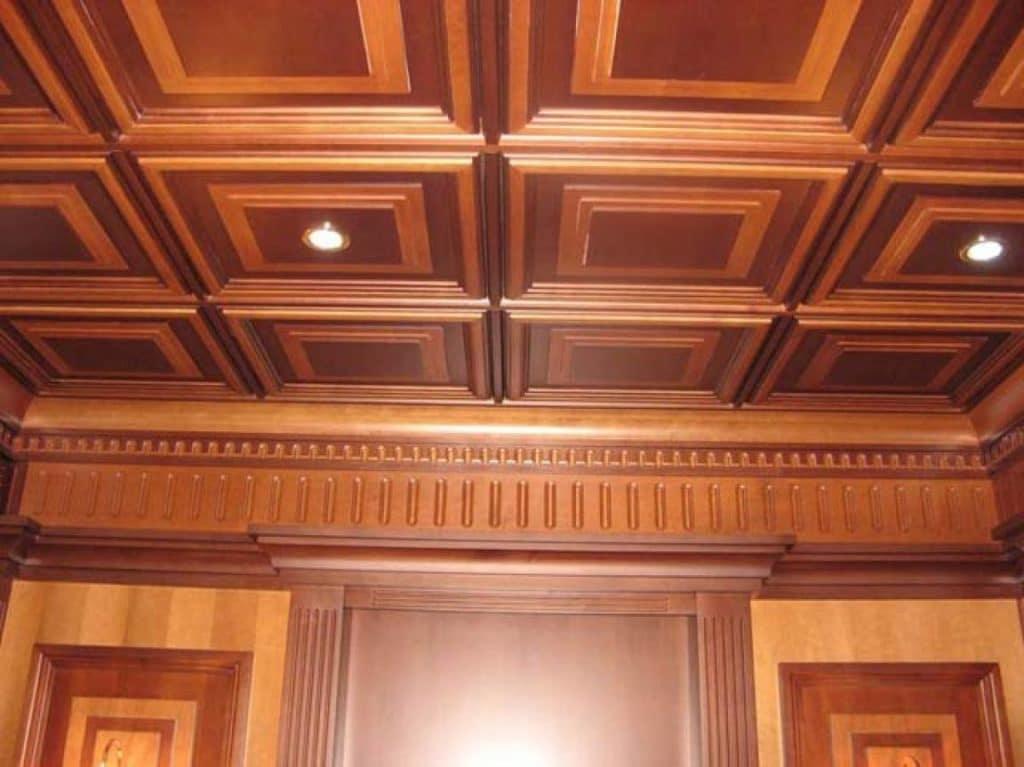 Деревянные кассетные потолки