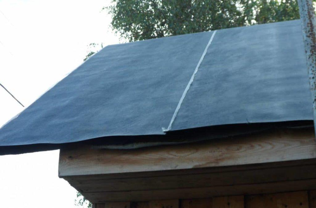 Рубероид на скатной крыше