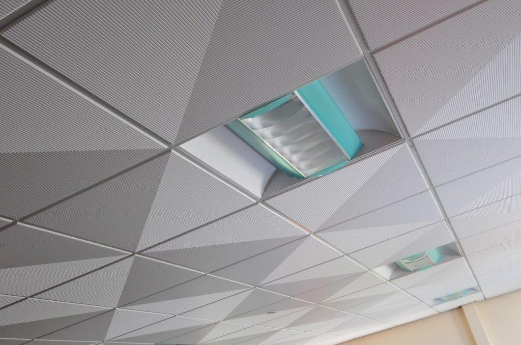 Стекловолоконные кассетные потолки