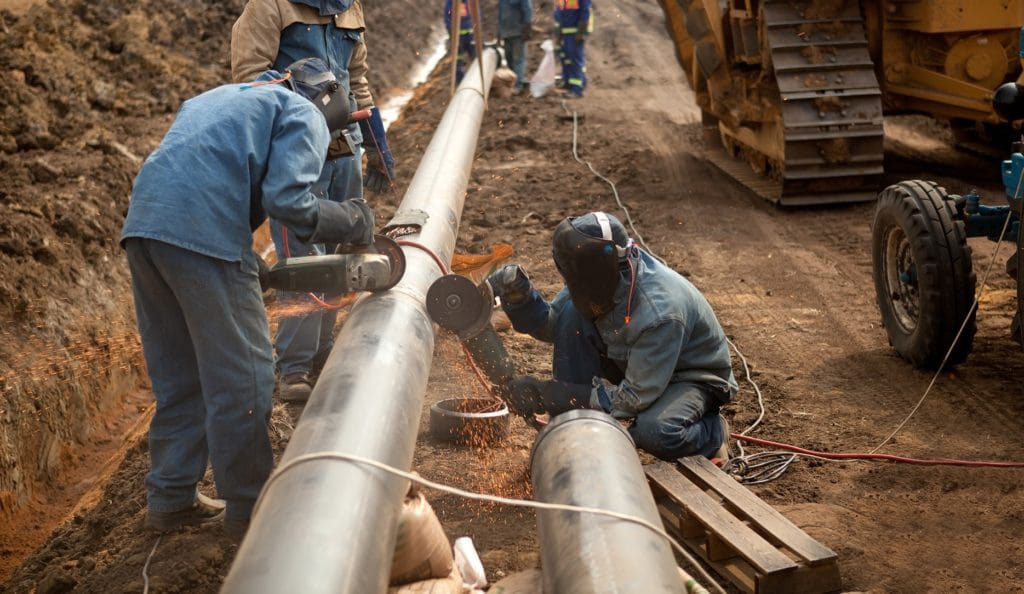 Прокладка газопровода с применением оцинкованных труб ВГП