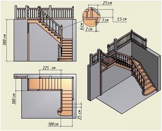 Проектирование лестницы на больцах