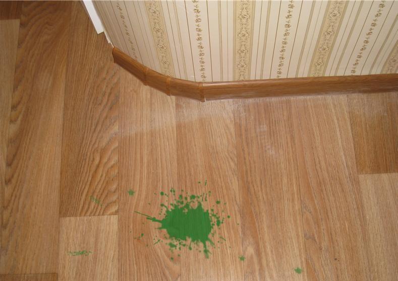 Чем отмыть зеленку с линолеума