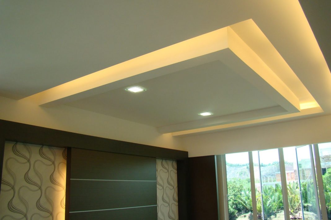 Парящий потолок из гипсокартона