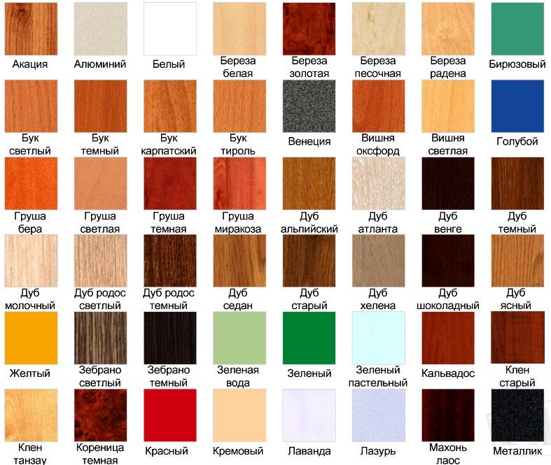 Панели компании Эггер цветовая палитра