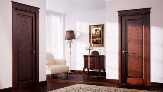 Элитные двери – массив красного дерева