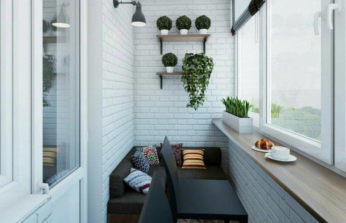мебель на балконе варианты