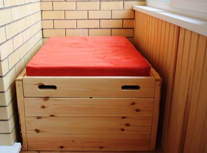 балконный ящик-диван