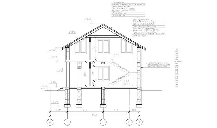 дом фасад чертеж