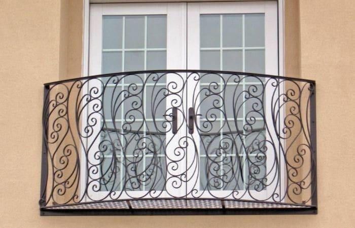 французские балконы кованые