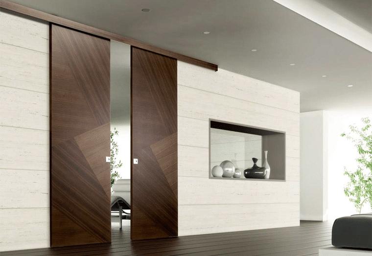Раздвижные двери: особенности конструкции и разновидности
