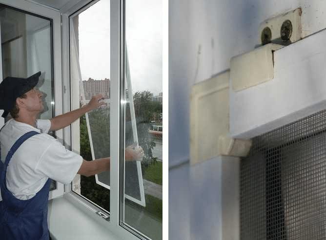 Как самостоятельно закрепить москитную сетку в окне