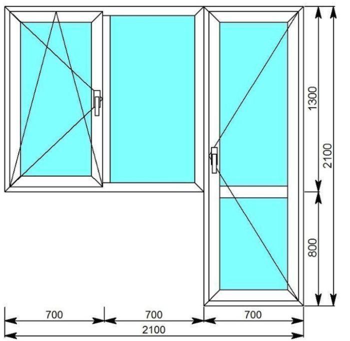 типичное окно с балконом
