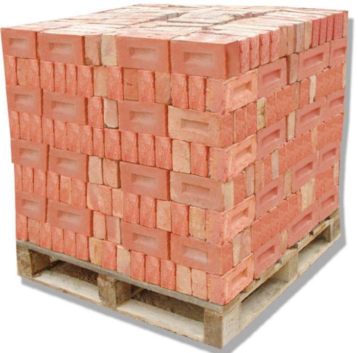 укладка кирпича на поддон в куб