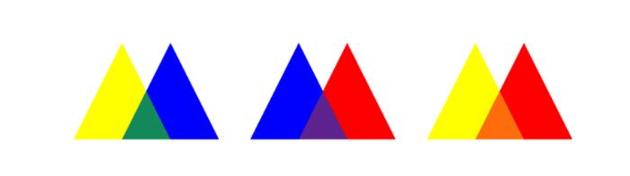 цвета второго ряда