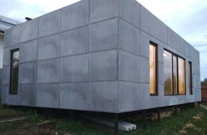 фасад из плоского шифера