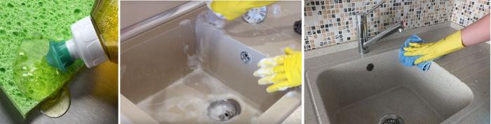 Чем чистить раковину из искусственного камня на кухне: 20 лучших средств, мытье и уход