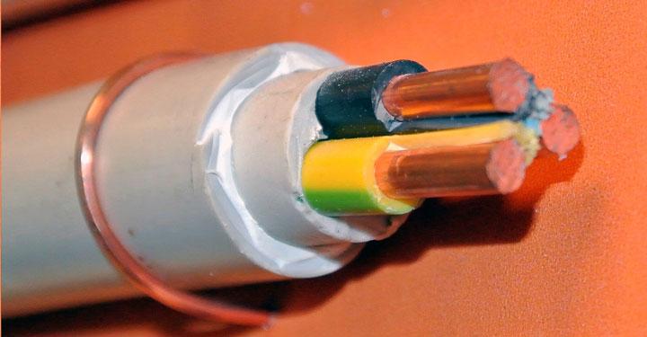 круглая форма кабеля NYM