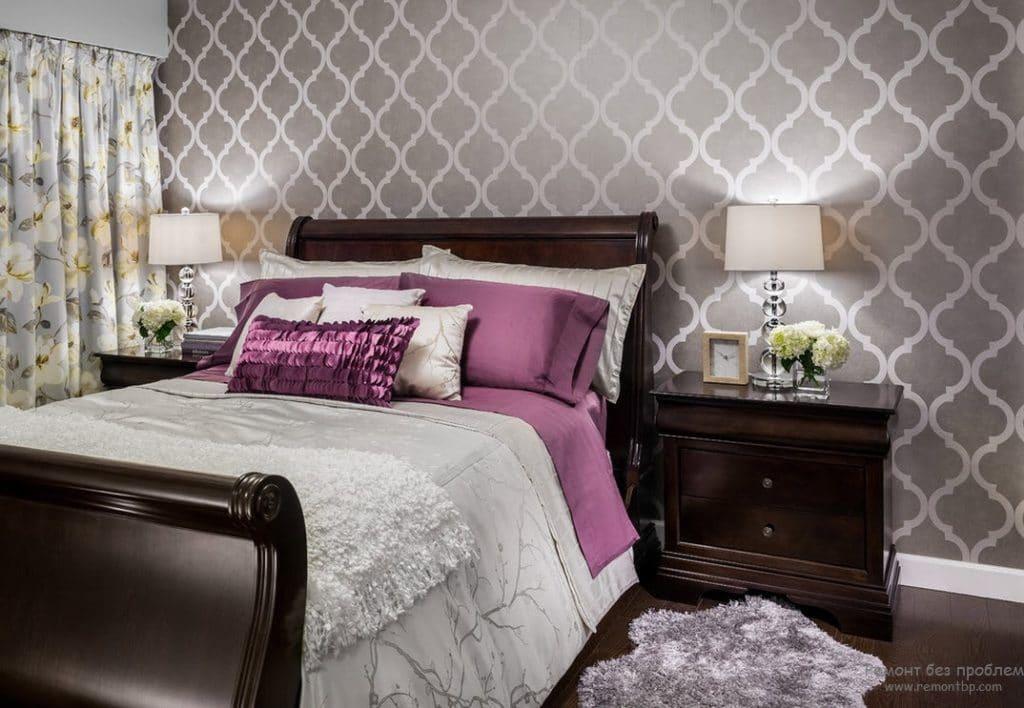 флизелиновые обои для спальни