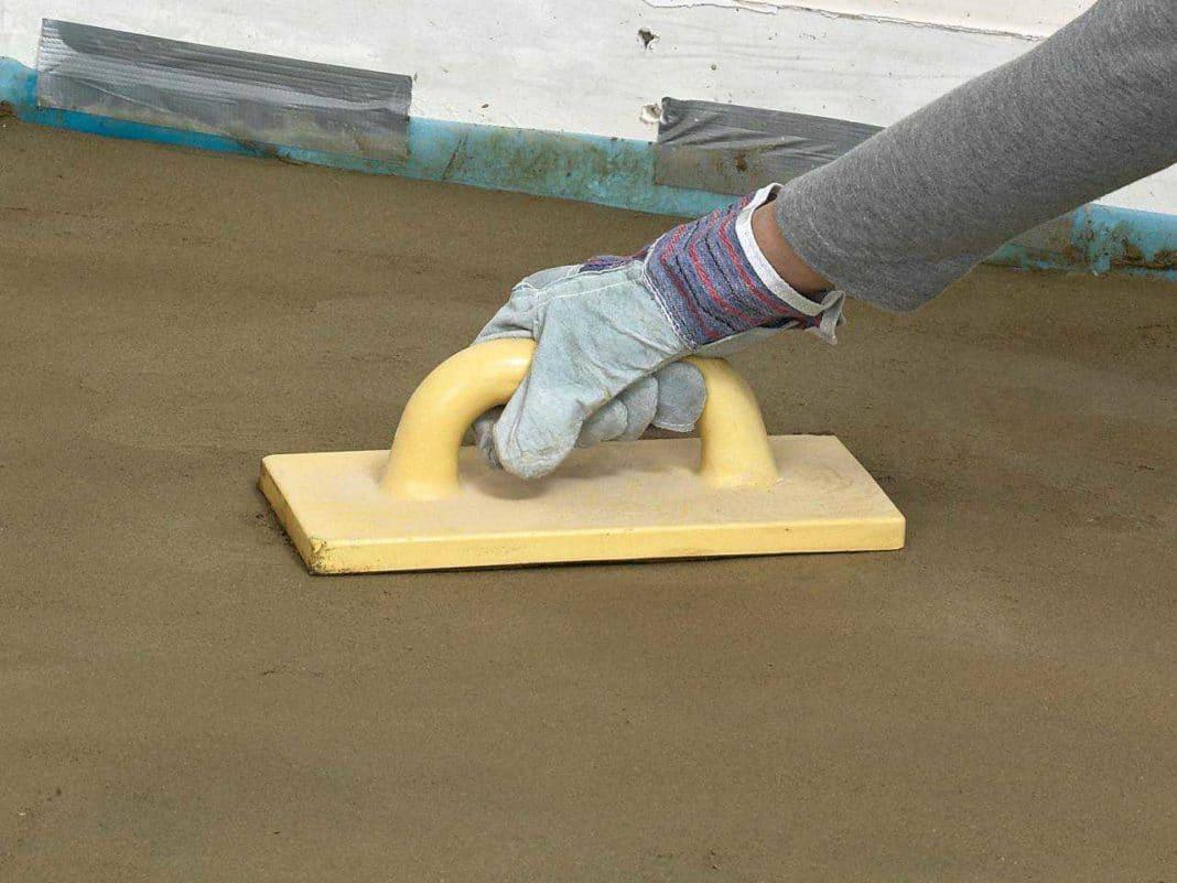 железнение бетонной стяжки