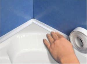 Лента для герметизации швов в ванной