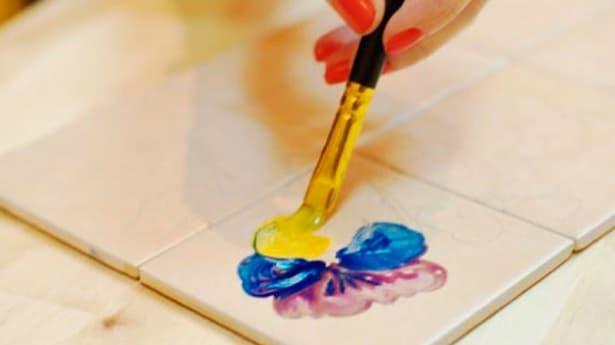 краска плитки ванной фото