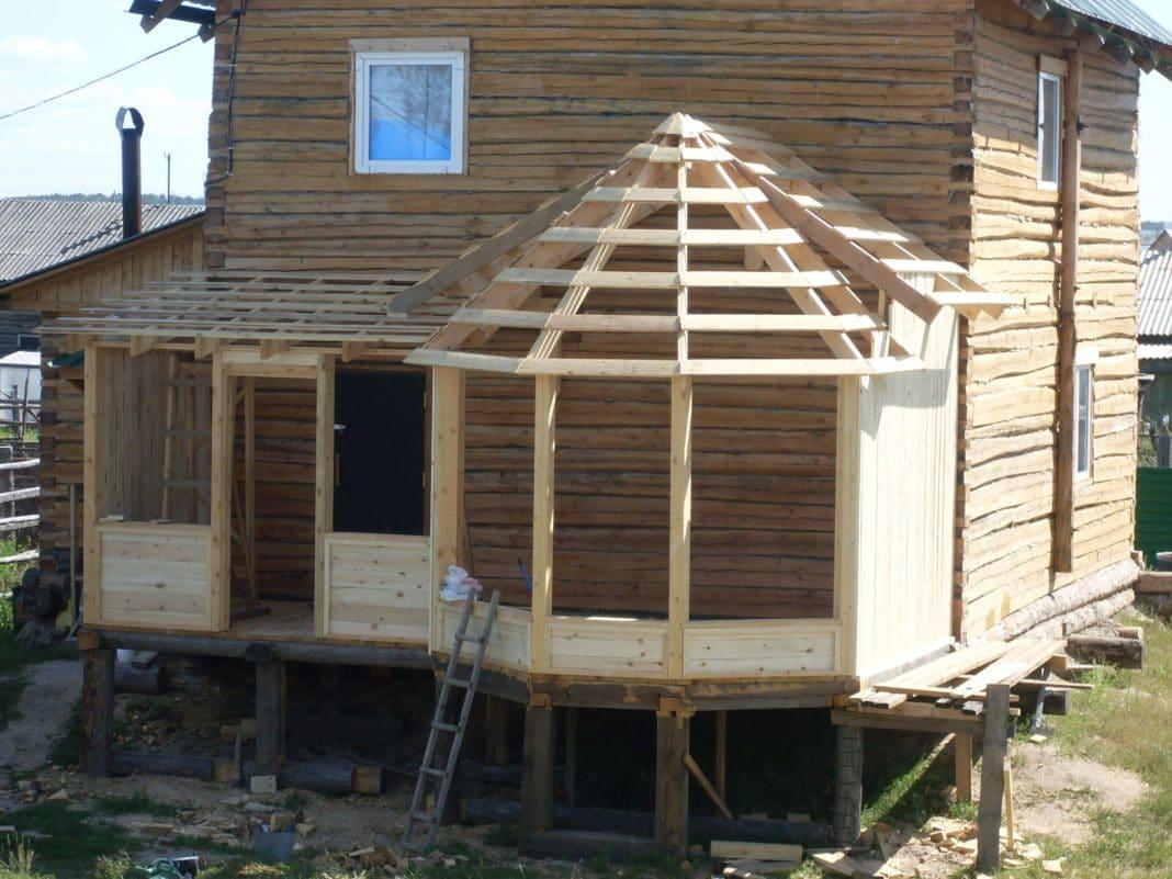 Деревянная веранда к деревянному дому своими руками фото 281