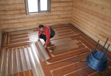 Устройство полов в ванной в деревянном доме