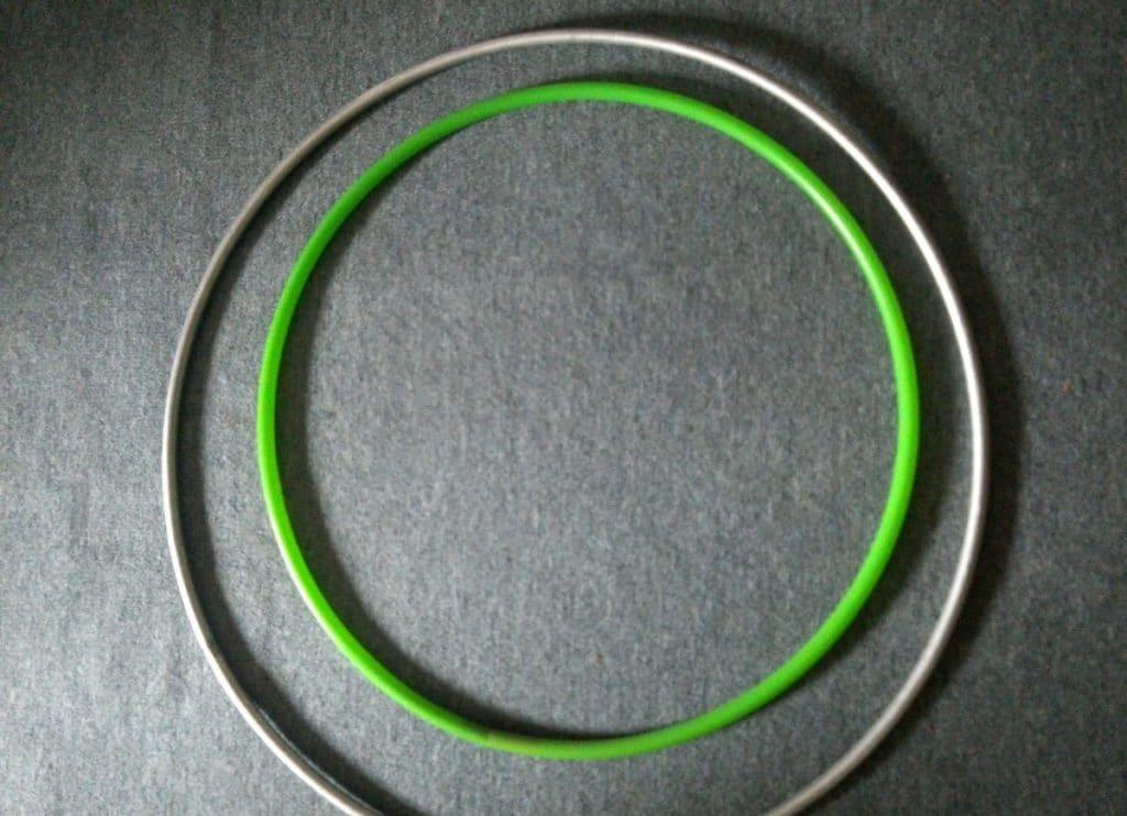 Алюминиевый обруч как основа качели
